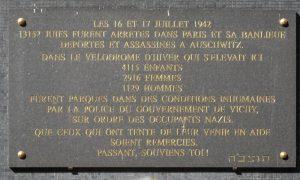 targa commemorativa rastrellamento Velodromo d'Inverno